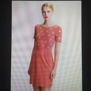 MARC JACOBS - cotton striped circle sequin dress